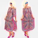 hurtownia Fashion & Moda: C17698 Damska Sukienka Oversize, Orientalny Wygląd