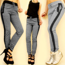 3804 WOMEN PANTS, TRENDY MELANGE MIX