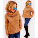ingrosso Ingrosso Abbigliamento & Accessori: PL37 Maglione a collo alto caldo, trecce tessute,