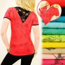 groothandel Kleding & Fashion: BI478 Zomer  Blouse, Top, Gouden Schuif, Kant