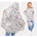 Großhandel Hemden & Blusen: BI764 Loose Hoodie, Cardigan mit Pastell Moro