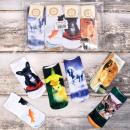 4256 Women Socks  3D, Wild Pets, Full - Print