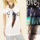 groothandel Kleding & Fashion: K349 katoenen  blouse TOP, voor de liefde, VOGELS P