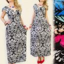 FL167 DRESS  V-Ausschnitt, Arabesken MIX