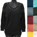 wholesale Pullover & Sweatshirts: Classic Loose Sweater For Women, V-neck, R134