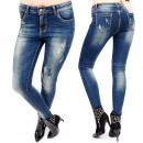 Großhandel Hosen: B16633 Damen Hosen, Schattierte Jeans, Skinny