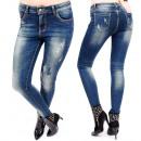 B16633 Pantalon femme, Jeans ombré, Maigre
