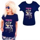 K564 Baumwoll- T-Shirt , Top, Trust Me, Navy