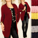 wholesale Pullover & Sweatshirts: Long and Loose Cardigan, Classic Cut UNI A8125