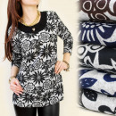wholesale Fashion & Mode: C11120 LOOSE  TUNIC, DESIGN  FLOWERS, GOLDEN ...