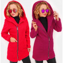 C24250 Women's Hooded Jacket, Bukle coat