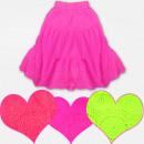 Großhandel Kinder- und Babybekleidung: A19137 Mädchen Baumwollrock, Neonfarben