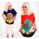 wholesale Fashion & Apparel: D1435 Loose  Oversize Tunic, Big Rose and Jets