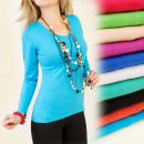 wholesale Shirts & Tops: K270 CLASSIC,  UNIVERSAL TOP, coton, V-neck