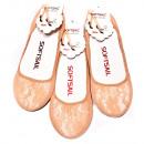 Großhandel Strümpfe & Socken: Spitze Frauenfüße, Ballerinas Beige 39-41 5334