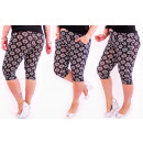 wholesale Trousers: 4284 Loose Pants,  1/2 Length, Bamboo, Plus Size