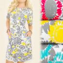 BI488 Effective Dress, Tunic, Summer Sunflower