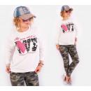 hurtownia Fashion & Moda: A805 Luźna Bawełniana Bluza, All You Need Is Love