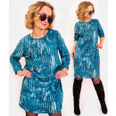 A1005 Sweatshirt Dress, Cotton, Patterns