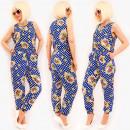 Großhandel Hosen: D1496 Airy Women Overall, Anzug, Tupfenmuster