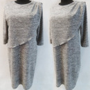 Großhandel Kleider: D4010 Kleid, Made In Poland, 44-52, Grau