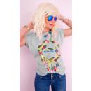 mayorista Ropa / Zapatos y Accesorios: Blusa de algodón K532, T-Shirt mujer, plumas india