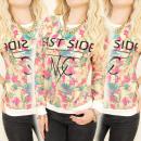 K459 Groot, Katoen Sweatshirt, Afdrukken: East Sid