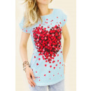 EM82 Cotton Top, Blouse, Full Of Hearts