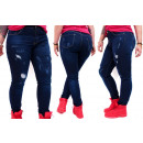 wholesale Jeanswear: B16782 Jeans Pants, Beautiful Holes, Plus Size
