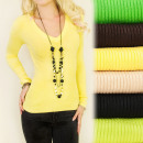 C17211 Comfortable, Charming Sweater, ...