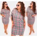 Großhandel Kleider: D1484 Kleid mit Taschen, Hahnentrittmuster