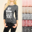 wholesale Pullover & Sweatshirts: C11395 Blouse, Tunic, My Heart Belongs To You