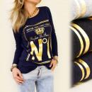 K163 TOP, blouse,  met lange mouwen, PARFUM DE PASS