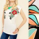 ingrosso Ingrosso Abbigliamento & Accessori: K413 COTONE  BLOUSE, TOP, FIORI PICCOLI