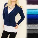 ingrosso Ingrosso Abbigliamento & Accessori: C17179 Autunno,  maglione classico, giacca, scollo