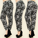 C1726 LOOSE PANTS,  HAREMS, PLUS SIZE, ROSES
