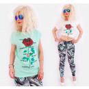 K521 T-Shirt cotone per donna, Top, Cool Rose