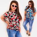 Großhandel Hemden & Blusen: C11533 Plus Size Damenbluse, Fröhliche Punkte