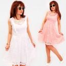 wholesale Dresses: BI795 Lace Dress, Flared, Frills