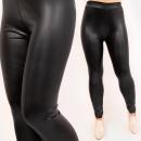 Großhandel Hosen: 4712 Damen Leggings, Latexhose, Schwarz