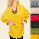 G220 Loose Sweater  Oversize, Tuniek, Trendy Sleeve