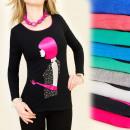 mayorista Ropa / Zapatos y Accesorios: 4041 TOP elegante,  blusa, TWENTIES APLICACIÓN DE L