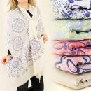 hurtownia Fashion & Moda: FL294 DELIKATNY  SZAL, NARZUTKA, KWIATOWY WZÓR