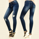 wholesale Jeanswear: B16529 Steamy  Jeans, Tubes, Fashionable Holes