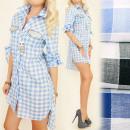 groothandel Kleding & Fashion: BI517 Vrouwelijke  jurk, Tuniek, Long Shirt, Checkr