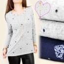 Großhandel Hemden & Blusen: C11133 GESTRICKTE BLUSE, TUNIKA, STADT, HALSKETTE