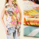 Großhandel Hemden & Blusen: BB46 EXPLOSIVE BLUSE, VERBINDETE FRONT, PALM