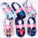 wholesale Fashion & Apparel: Velor Ballerina Slippers 35-42, Checkred, 4893
