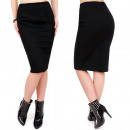 wholesale Skirts: C24189 Made in  Poland Pencil Skirt Black