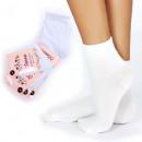 Womens Socks, cotton, Classic White, 35-41, 4991